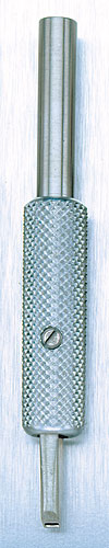 Stainless Steel Closed Type, 6 Needle Flat Tip Shader Tube<br><i>with Aluminum Grip</i>