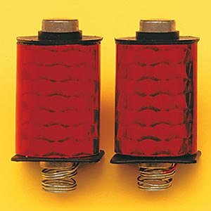 1 Pair Red Deluxe Machine Coils