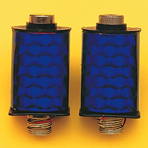 1 Pair Blue Deluxe Machine Coils