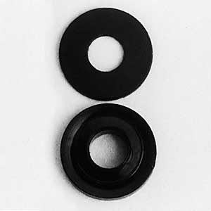 Flat & Extruded Black Nylon Washers