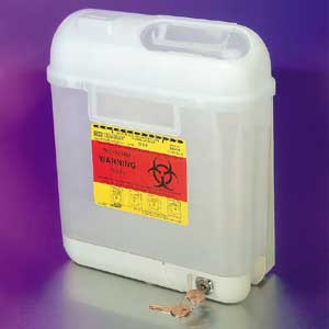 5.4 Quart Sharps Medical Waste Collector