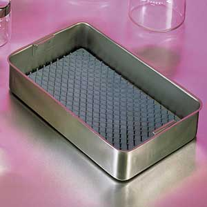 "Stainless Steel Tray, 10"" x 6 3/4"" x 2"""