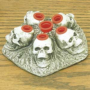Skull Ink Cap Holder (Stone Finish Only)
