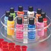 1/2 Ounce Lazy Susan Bottle Rack<br>With Permanent Cosmetic Colors