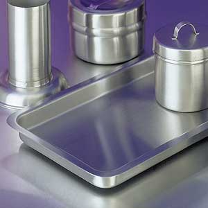 "Stainless Steel Tray 10"" x 6"" x 3/4"""