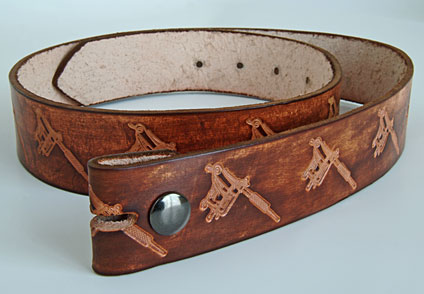 Antiqued Leather Belt