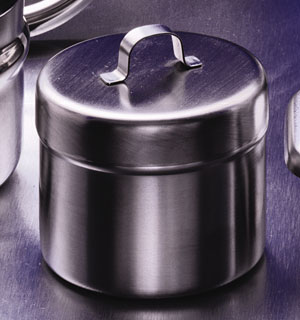 Stainless Steel Ointment Jar w/ cover<br><i>by Volrath</i>