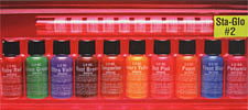 Sta-Glo #2 Color Sampler Pack<br><i>1/2oz Bottle of All Ten Colors</i>