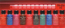 Sta-Glo #3 Color Sampler Pack<br><i>1/2oz Bottle of All Ten Colors</i>