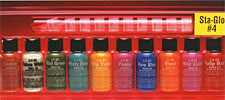 Sta-Glo #4 Color Sampler Pack<br><i>1/2oz Bottle of All Ten Colors</i>