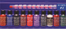 VooDoo Brand™ #2 Color Sampler Pack<br><i>1/2oz Bottle of All Ten Colors</i>