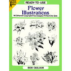 Flower Illustrations<br><i>96 Different Copyright-Free Designs Printed One Side</i>