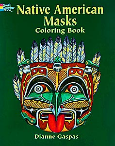 Native American Masks Coloring Book