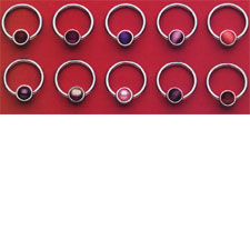 Bezeled Captive Stone Rings