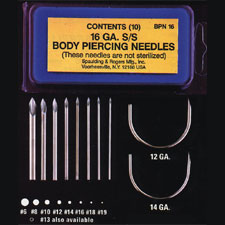 Supreme Body Piercing Needles<br><i>Non-Sterilized</i>