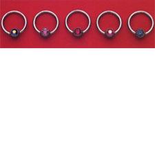 Gem Captive Bead Ring