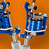 Blue Powder Coated Puma Quick Change Tattoo Machine with 10-Wrap Coils