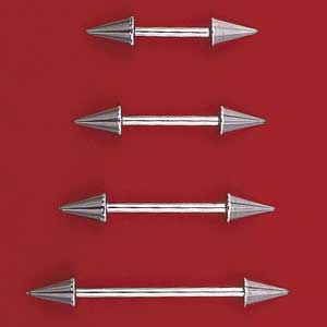 Spiked Barbells - 14 Gauge