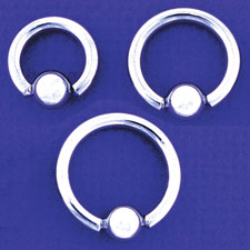 Captive Bead Ring 8 Gauge