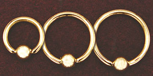 Solid Gold Bead Ring - 14 Gauge