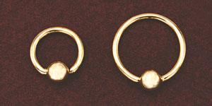 Solid Gold Bead Ring - 16 Gauge
