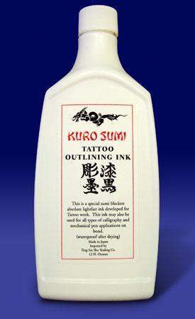 Kuro Sumi Tattoo Outlining Ink - 12 Ounce Bottle