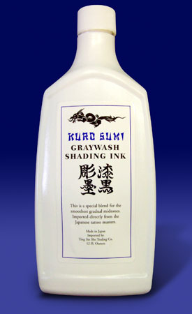 Kuro Sumi Graywash Shading Ink - 12 Ounce Bottle