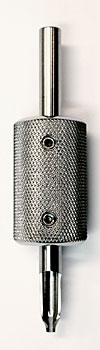 """4 Needle Flat 3-Piece Tube with Machined Tip and 1"""" Grip"""