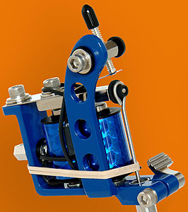 Blue Powder Coated Puma Quick Change Machine Head with 10-Wrap Coils