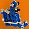 Blue Powder Coated Puma Quick Change Machine Head with 10-Wrap Coils