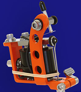 Orange Powder Coated Puma Quick Change Machine Head