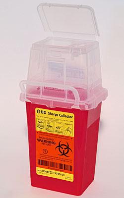 1.5 Quart Sharps Medical Waste Collector