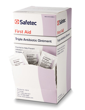 Safetec Triple Antibiotic Ointment - Bacitracin Zinc and Neomycin Sulfate - Box of 144
