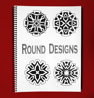 Sketch Sheets - Round Designs