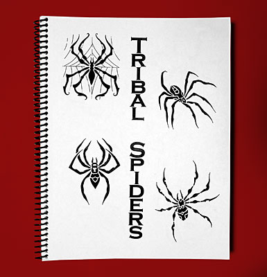 Sketch Sheets - Tribal Spiders