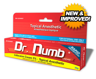 Dr numb lidocaine cream 30g huck spaulding for Lidocaine for tattoos