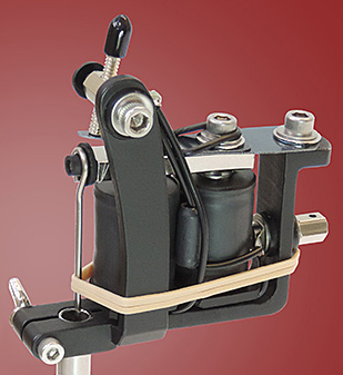 Old Style Flat Black Lightweight Quick Change Machine Frame - LEFT HANDED