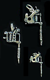 Tattoo Machine Necklace Charms